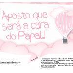 Plaquinha divertidas Balão de Ar Quente Rosa 08