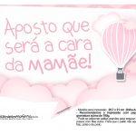 Plaquinha divertidas Balão de Ar Quente Rosa 09