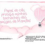 Plaquinha divertidas Balão de Ar Quente Rosa 10