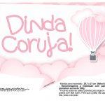 Plaquinhas para Festa Balão de Ar Quente Rosa 14