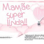 Plaquinhas Balão de Ar Quente Rosa 15
