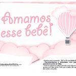 Plaquinhas Balão de Ar Quente Rosa 16