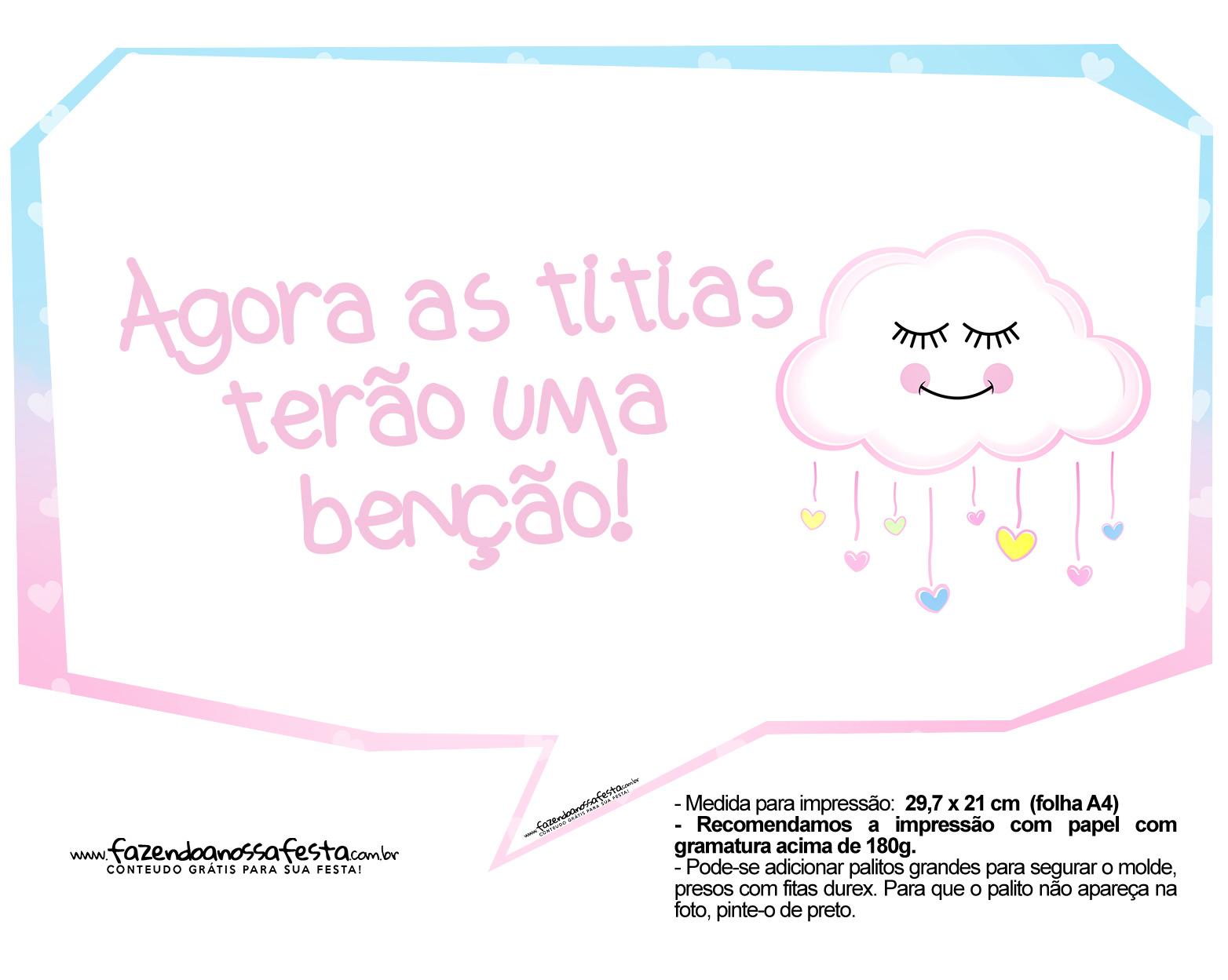 Plaquinhas divertida Chuva de Amor 04