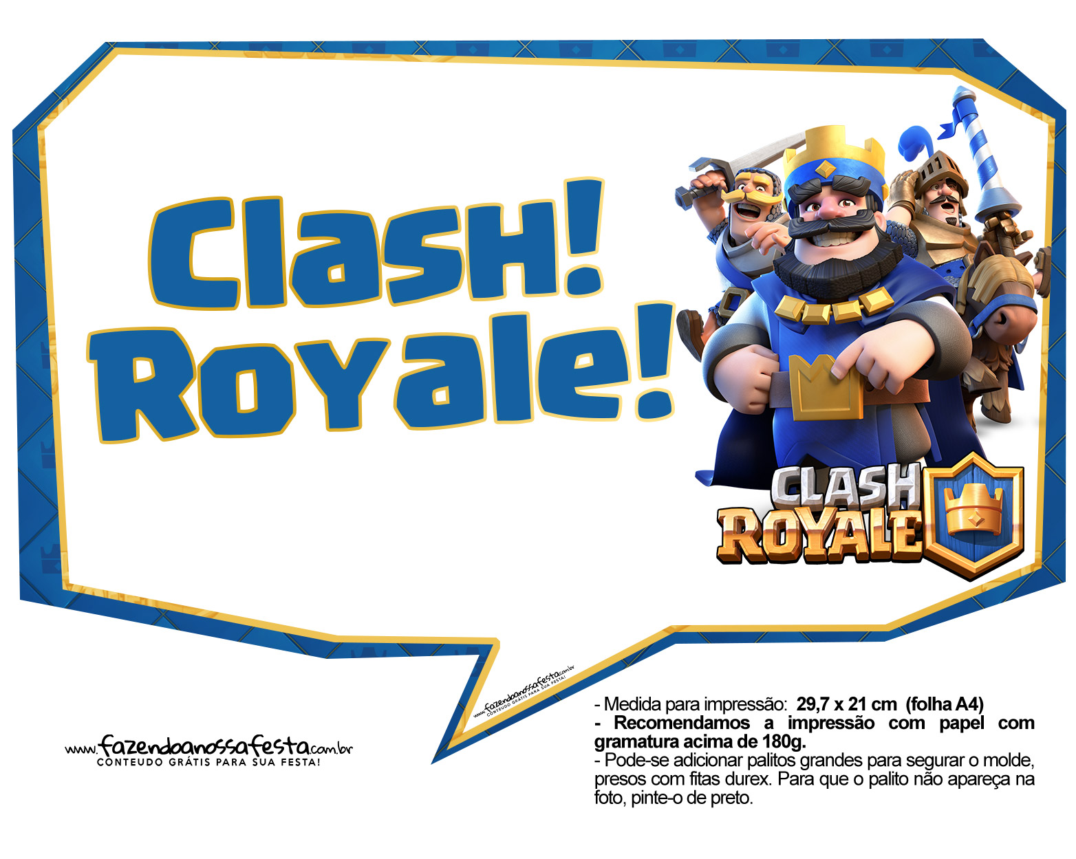 Plaquinhas divertidas Clash Royale 02