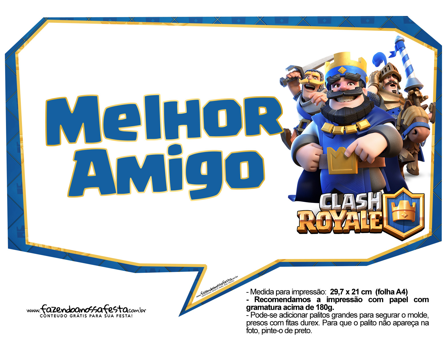 Plaquinhas divertidas Clash Royale 05