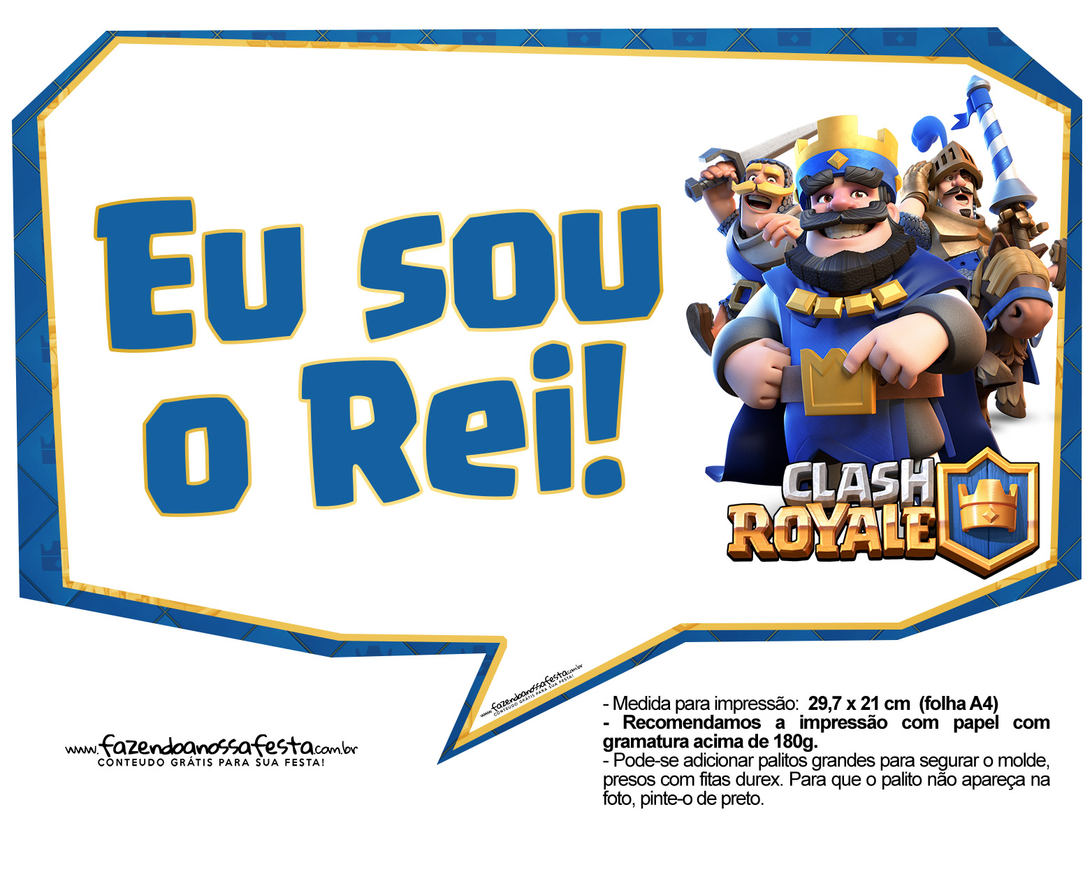 Plaquinhas divertidas Clash Royale 11