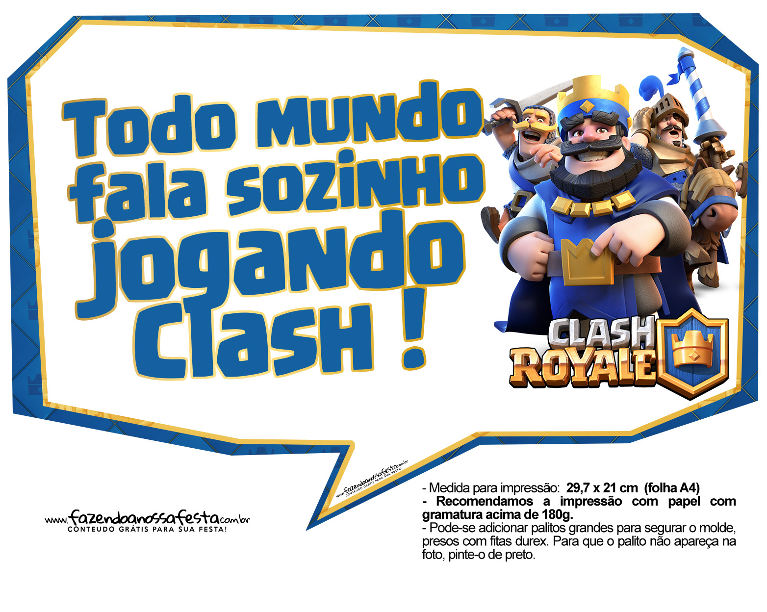 Plaquinhas divertidas Clash Royale 12