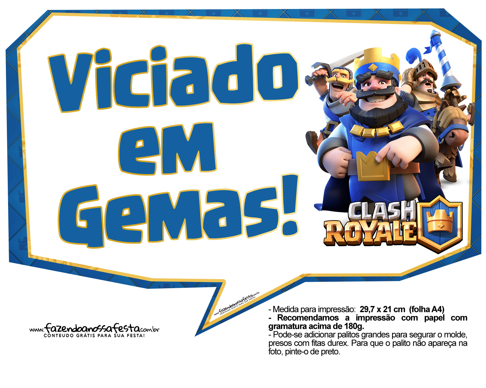 Plaquinhas divertidas Clash Royale 13