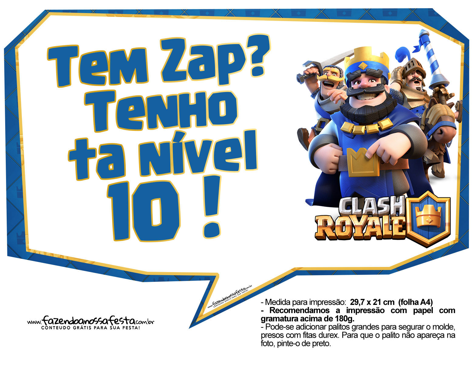 Plaquinhas divertidas Clash Royale 15