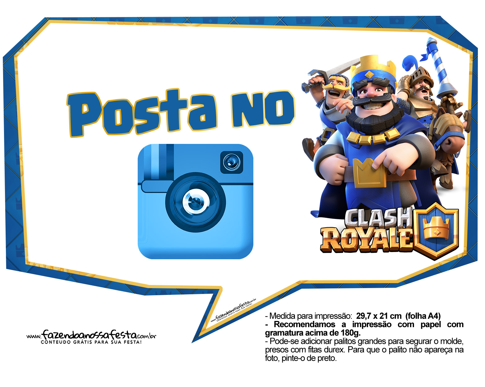Plaquinhas divertidas Clash Royale 19