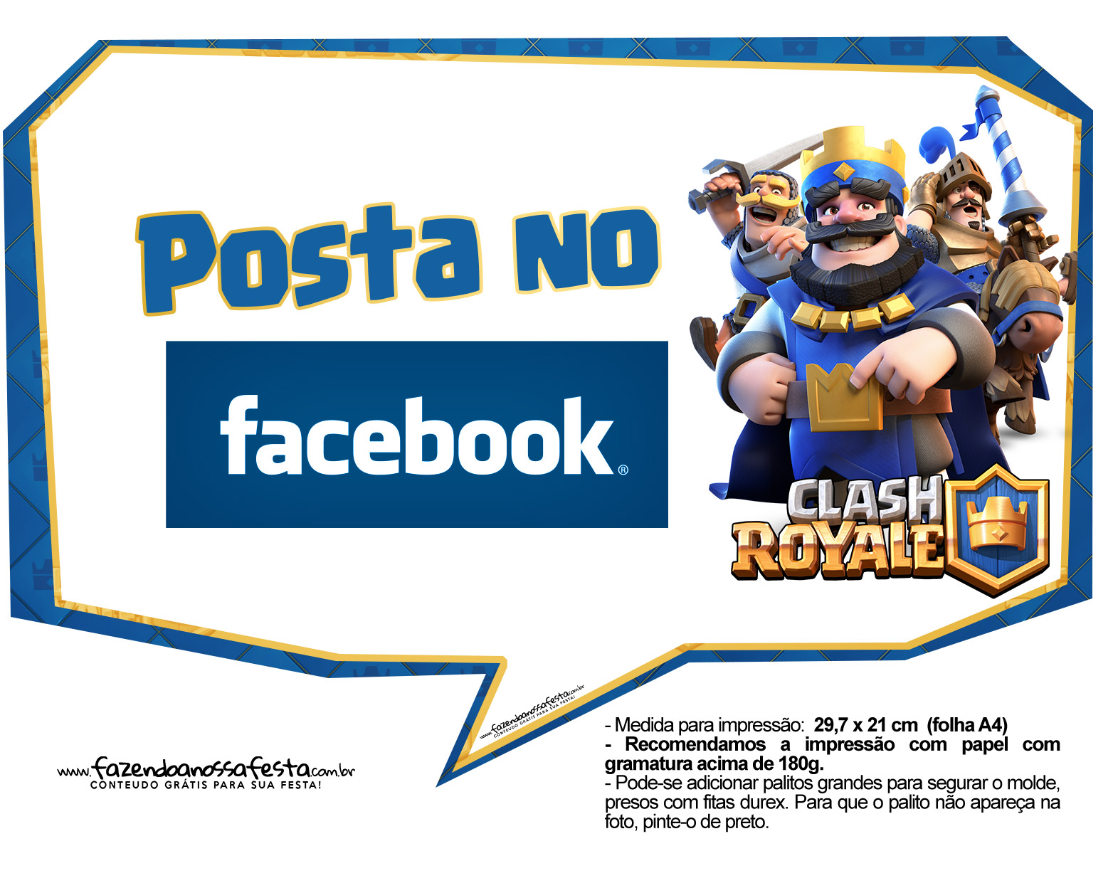 Plaquinhas divertidas Clash Royale 20