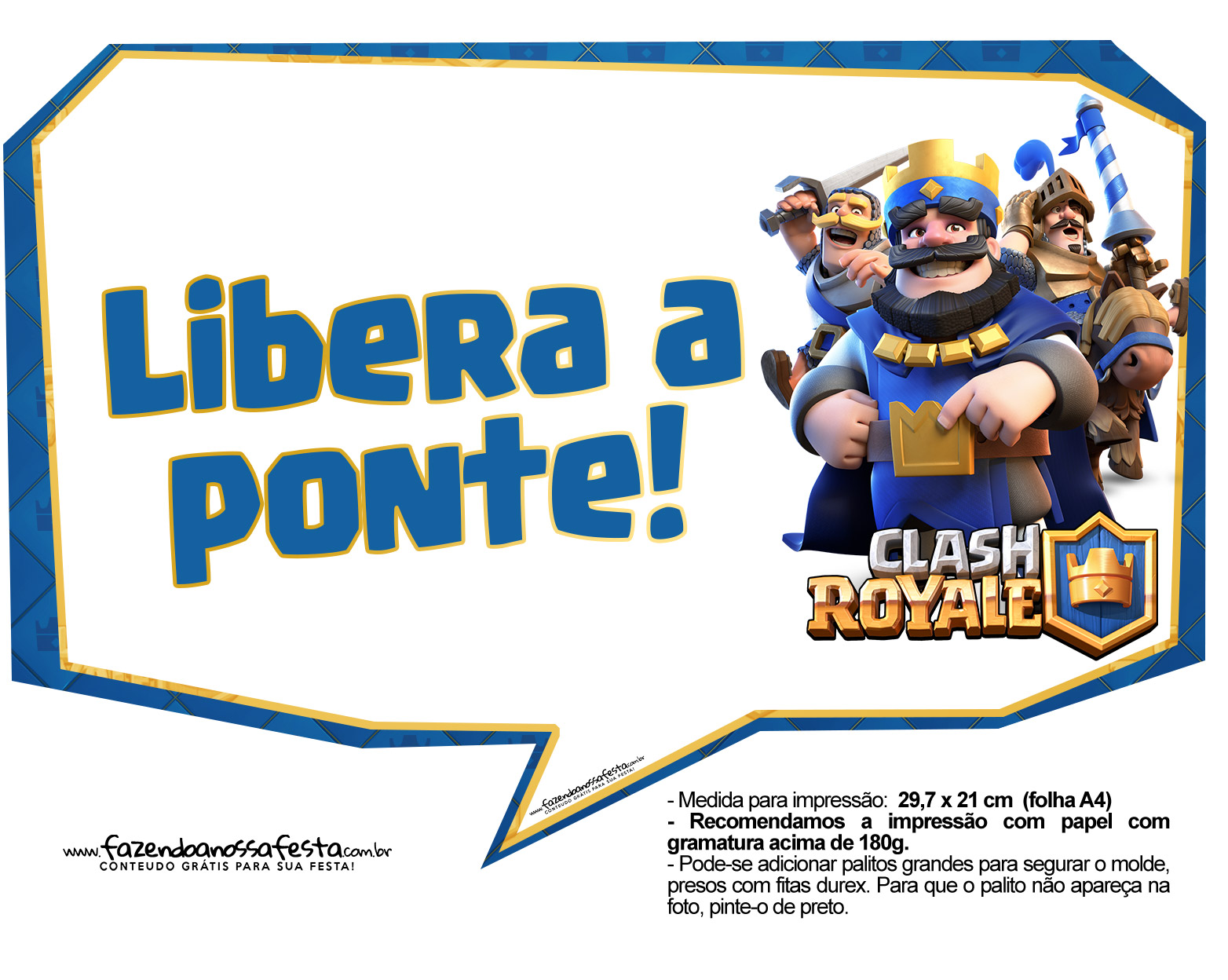 Plaquinhas divertidas Clash Royale 21