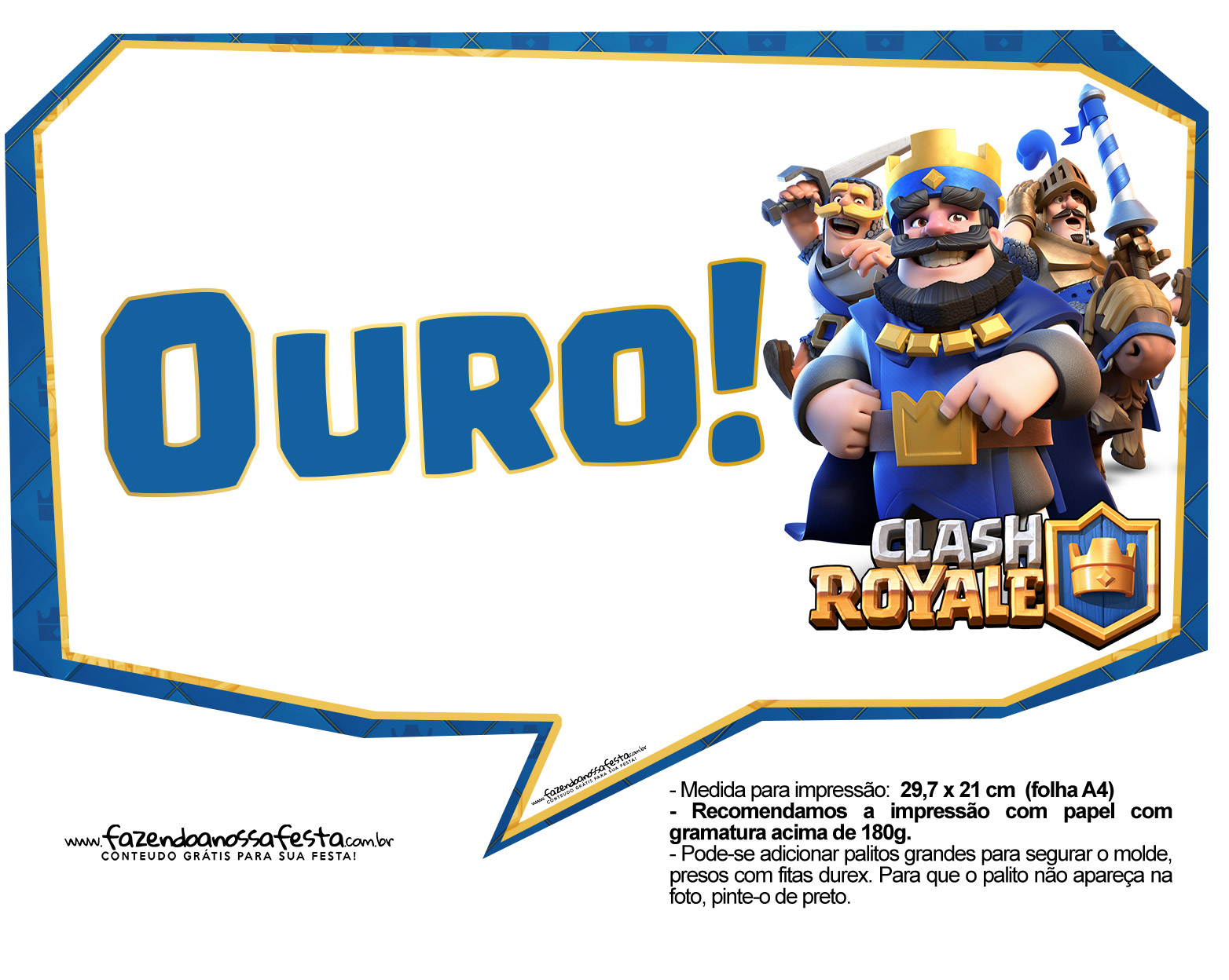 Plaquinhas divertidas Clash Royale 24