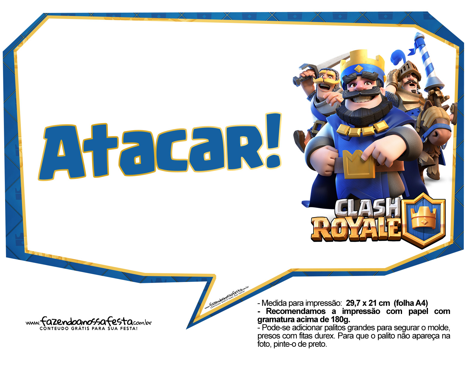 Plaquinhas divertidas Clash Royale 25