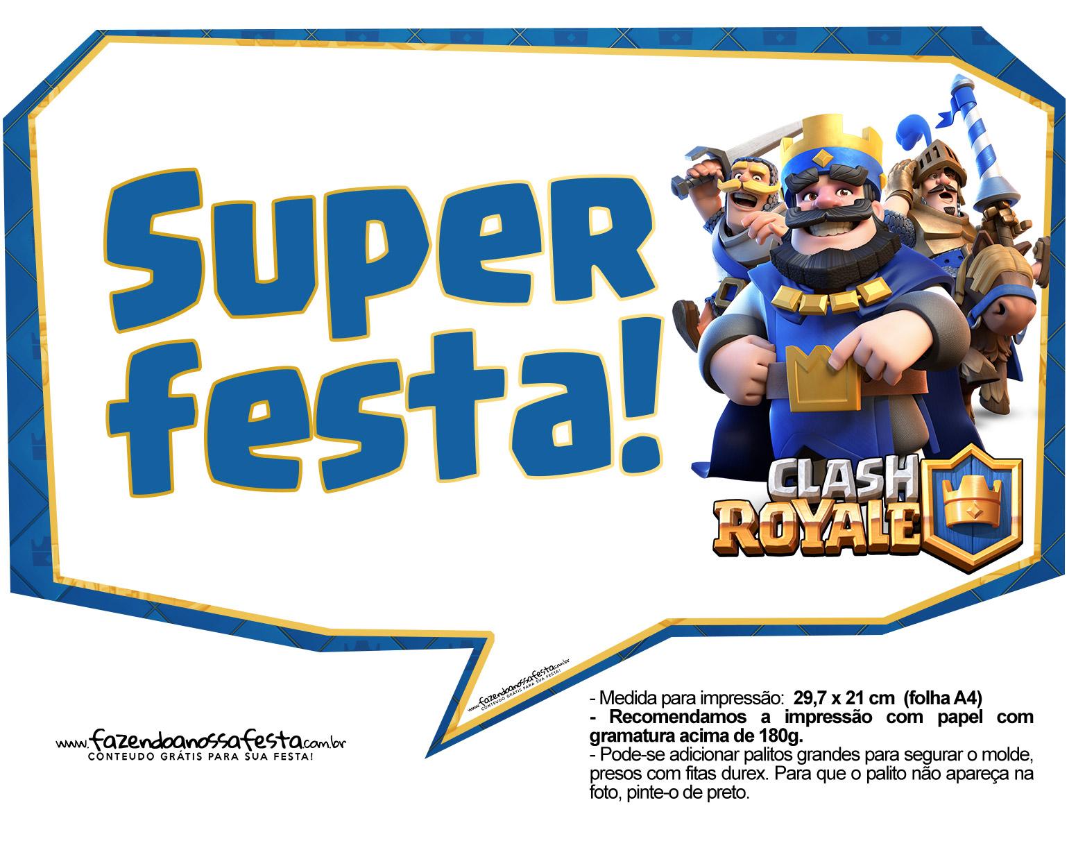 Plaquinhas divertidas Clash Royale 27