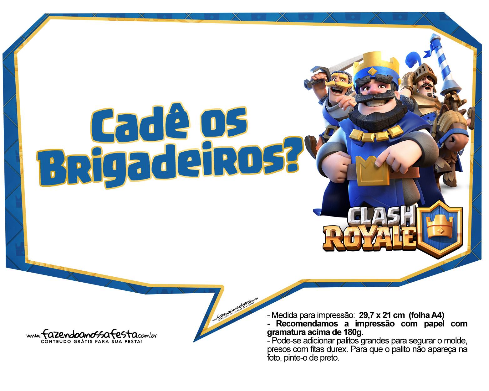 Plaquinhas divertidas Clash Royale 28