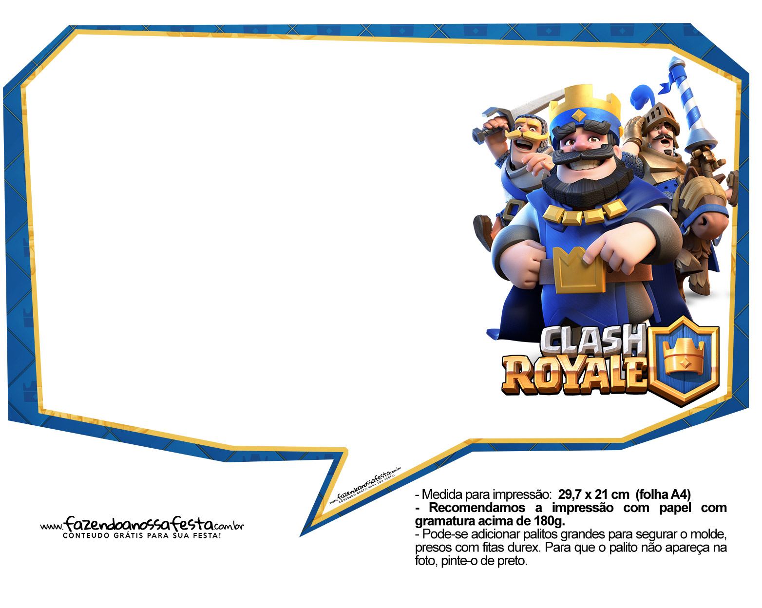 Plaquinhas divertidas Clash Royale 29