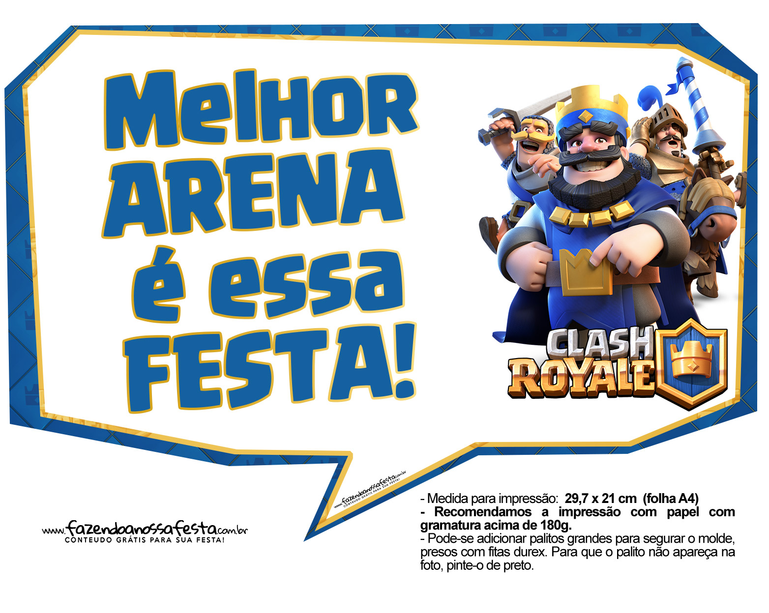 Plaquinhas divertidas Clash Royale 30