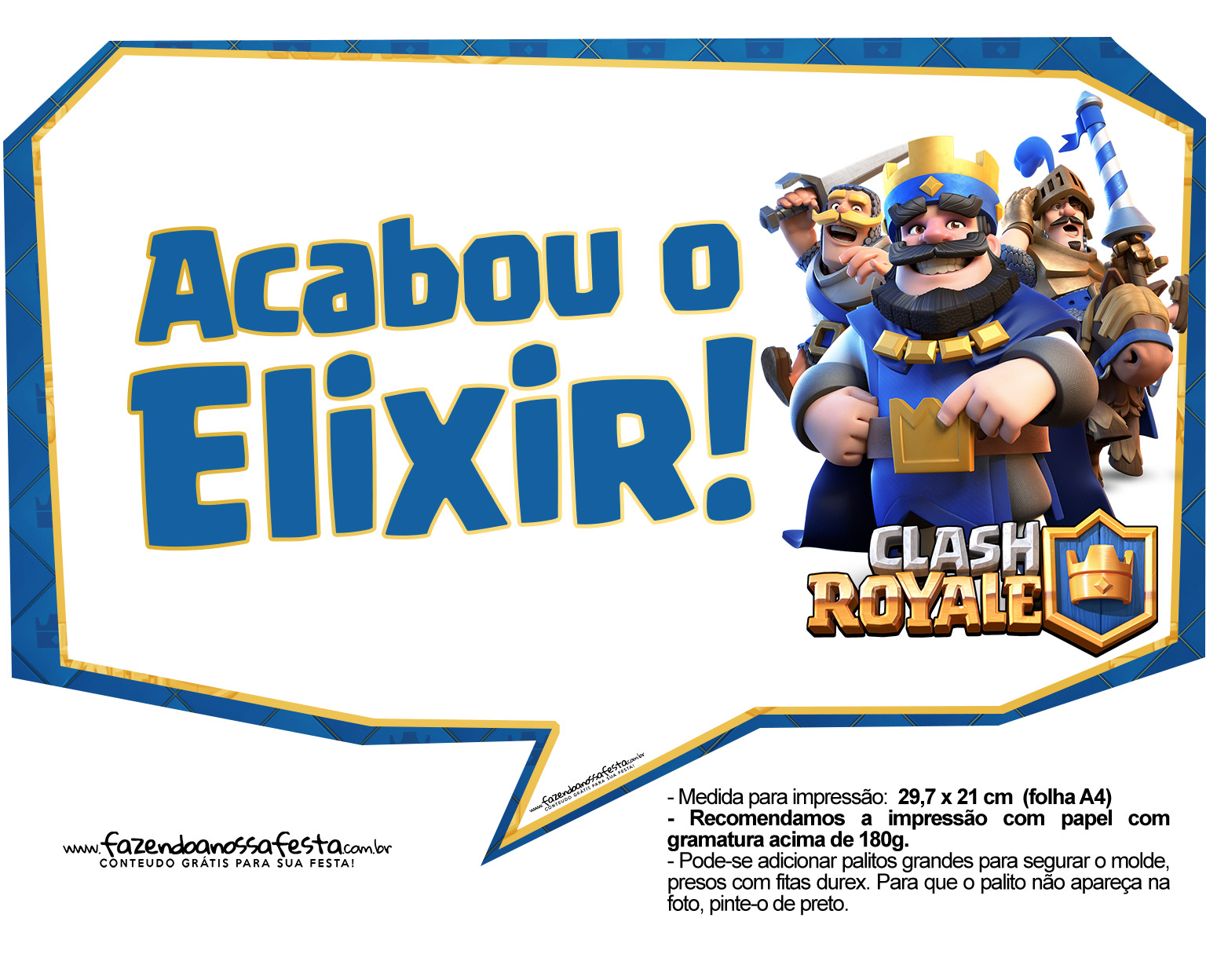 Plaquinhas divertidas divertidas Clash Royale 31