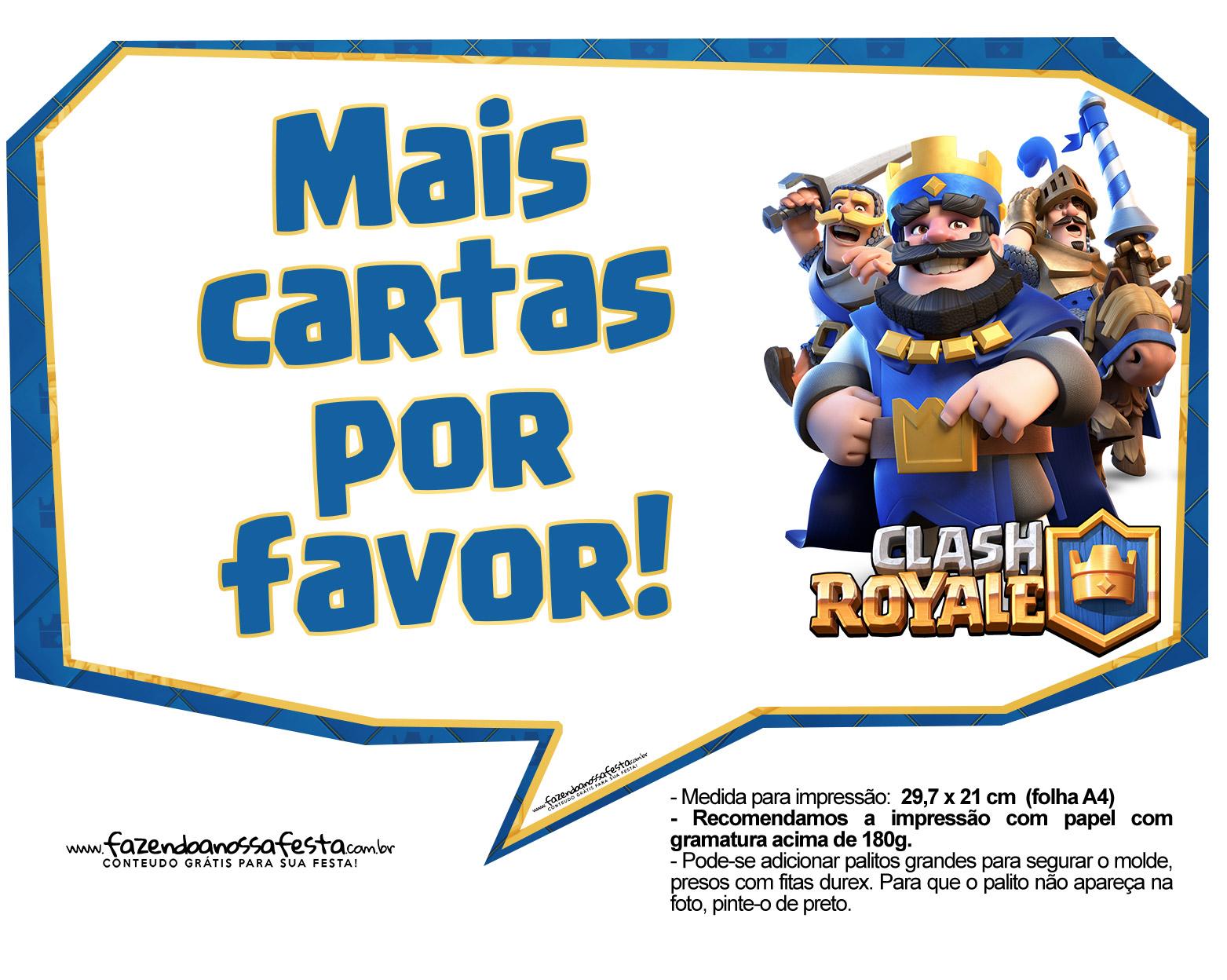 Plaquinhas divertidas Clash Royale 33
