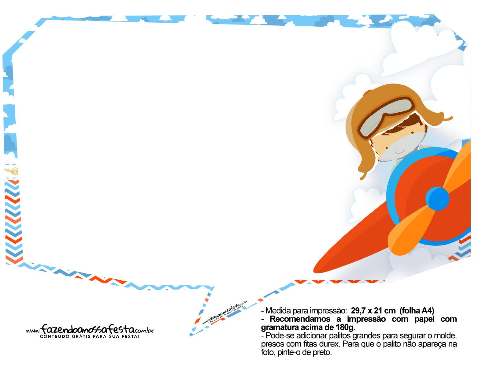 Plaquinhas para Festa Menino Aviador 31