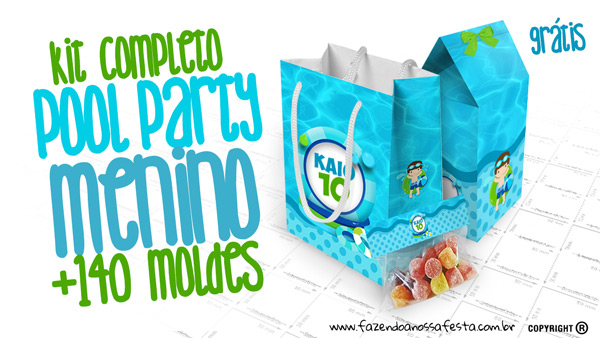 Pool Party Menino Kit Festa