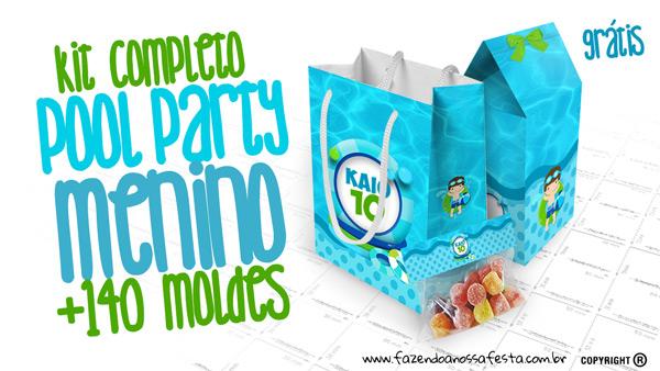Pool Party Menino Kit Festa