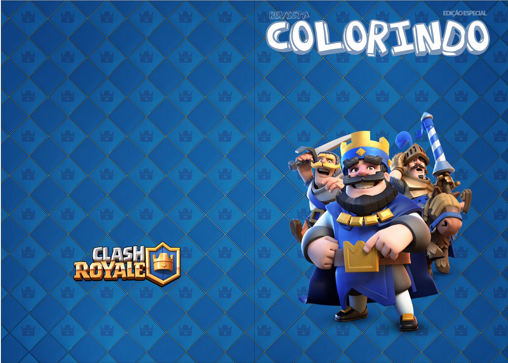 Revista Colorindo Clash Royale Kit Festa