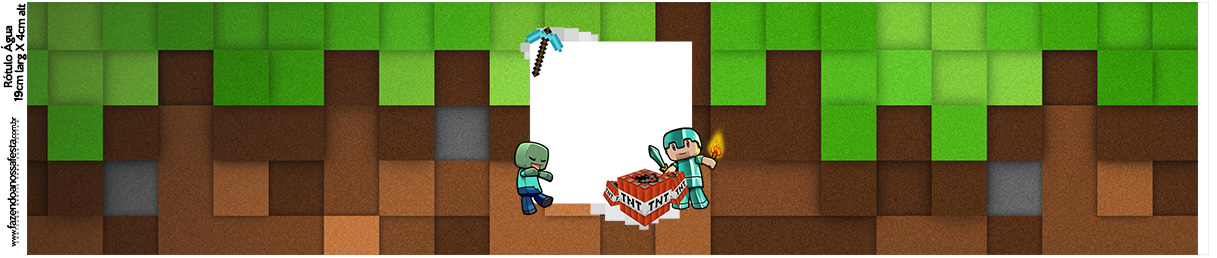Rotulo Agua Minecraft