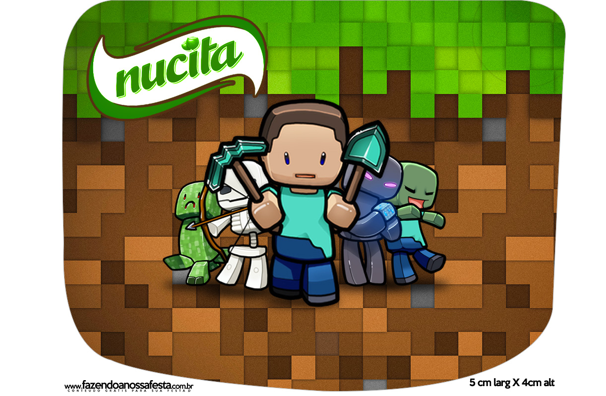 Rotulo Creminho Nucita Minecraft