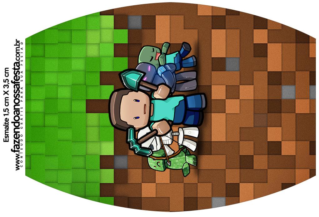 Letras Minegraft Fazendo A Nossa Festa: Rotulo Esmalte Minecraft
