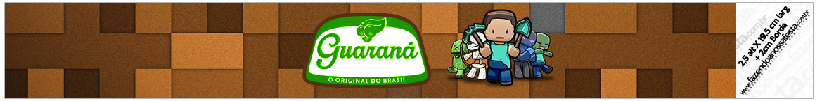 Rotulo Guarana Caculinha Minecraft