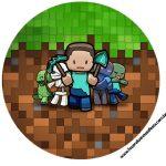 Rotulo Latinhas, Toppers e tubete Minecraft