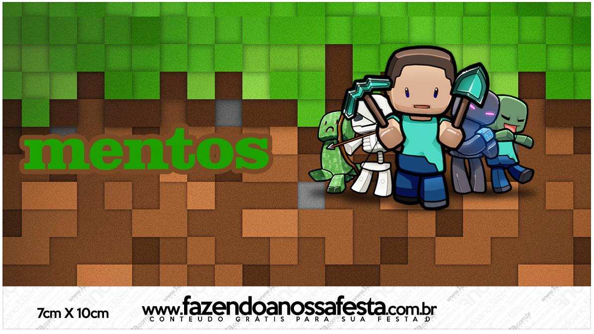 Rotulo Mentos Minecraft