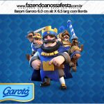 Rotulo Mini Baton Garoto Clash Royale