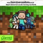 Rotulo Mini Baton Garoto Minecraft
