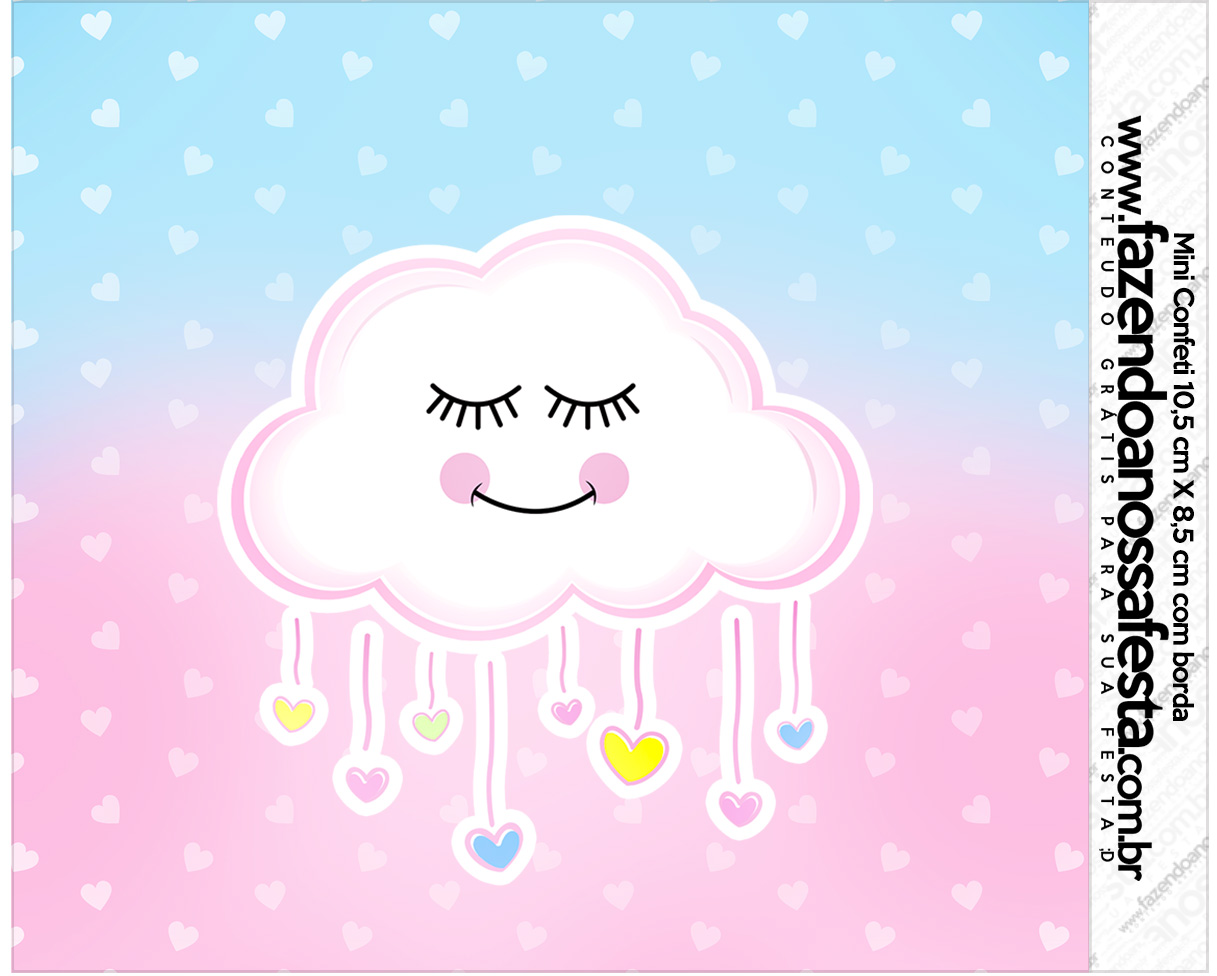Rotulo Mini Confeti Chuva de Amor
