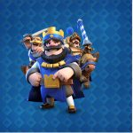 Rotulo Mini Confeti Clash Royale