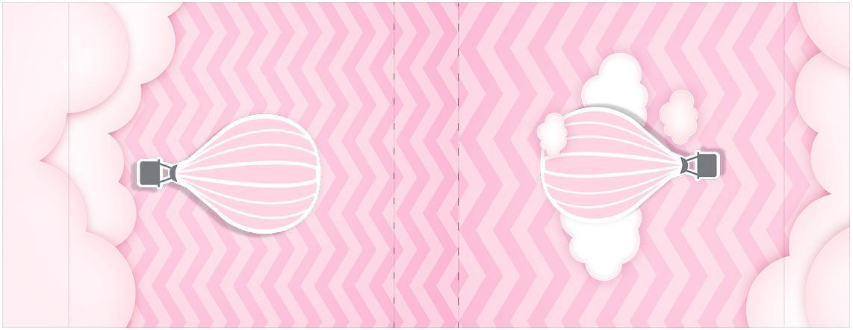 Rotulo Mini Talento Balão de Ar Quente Rosa Kit Festa