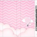 Rotulo Nescau Balão de Ar Quente Rosa