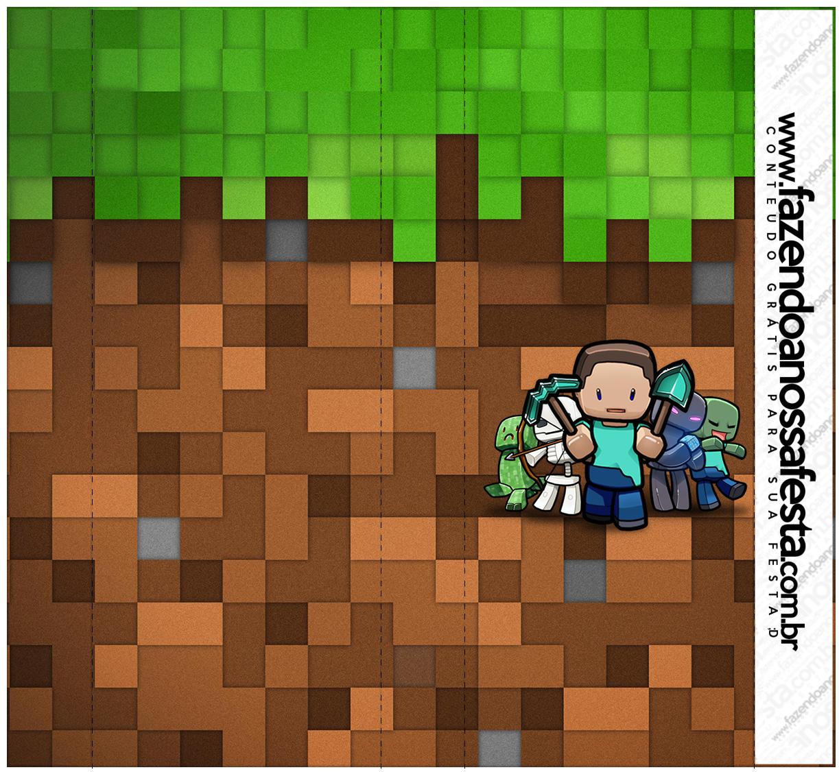 Rotulo Nescau Minecraft