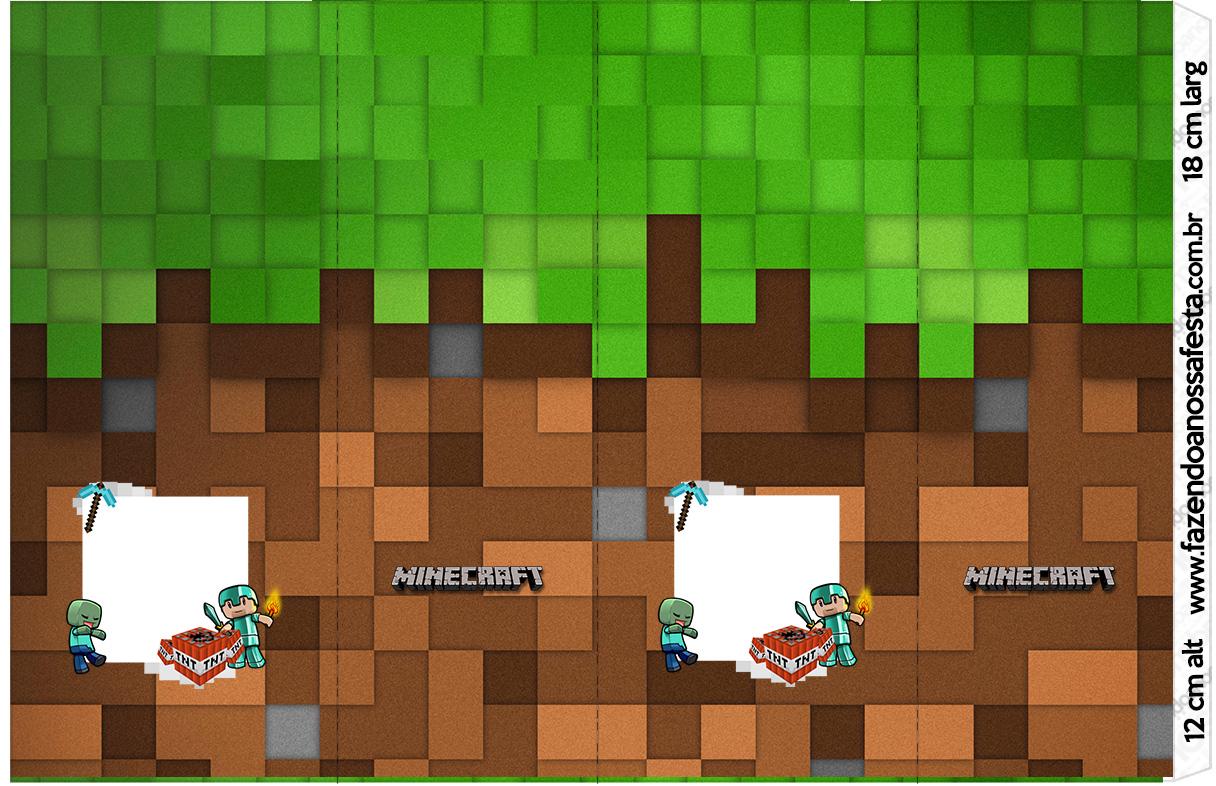 Letras Minegraft Fazendo A Nossa Festa: Rotulo Nescauzinho Minecraft