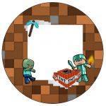 Rótulo Personalizado para latinha e toppers Minecraft