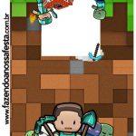 Rotulo Pirulito Minecraft Kit Festa