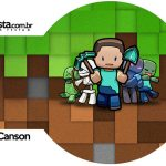Rotulo Porta Guardanapos Minecraft