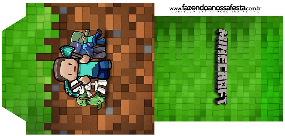 Rótulo Saquinho de Chá Minecraft