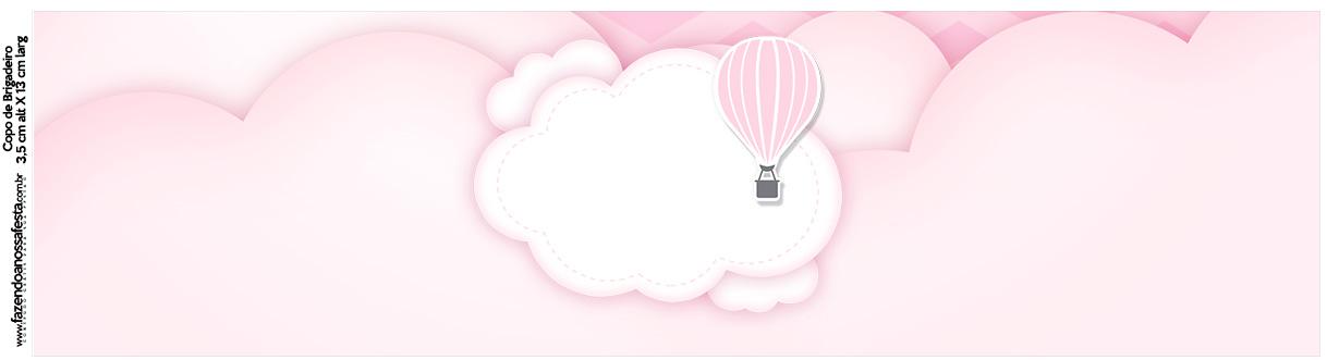 Rotulo Squezze Balão de Ar Quente Rosa