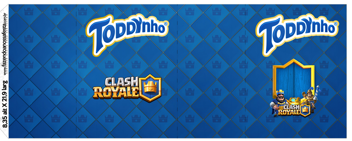 Rotulo Toddynho Clash Royale