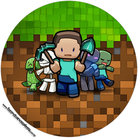Rotulo Tubete 2 Minecraft Kit Festa