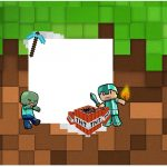 Rotulo para Caixa bombom Minecraft